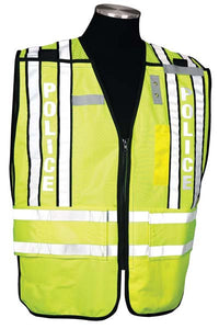 Police Officer Safety Vest 500 PSV PRO SERIES Size Range 2XL-4XL Black Trim
