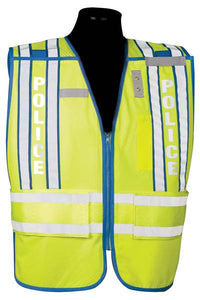Police Officer Safety Vest 500 PSV PRO SERIES Size Range Med-XL Blue Trim