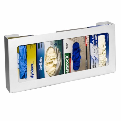 Rack'Em Racks-4 Box White Plastic Horizontal Glove Dispenser