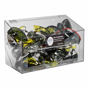 Rack'Em Racks-70 Pair Safety Glass Dispenser Clear Acrylic with clear lid