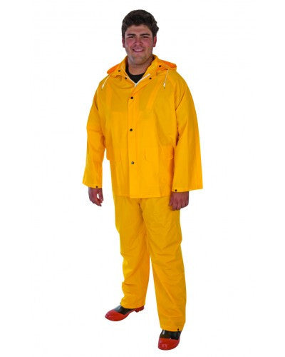 Liberty - Durawear Fr Pvc/Poly/Pvc 3-Piece Yellow Rainsuit