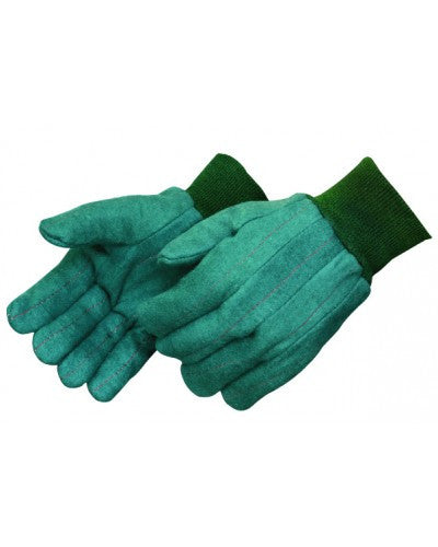 Green chore glove with matching knit wrist  - Men's - Dozen