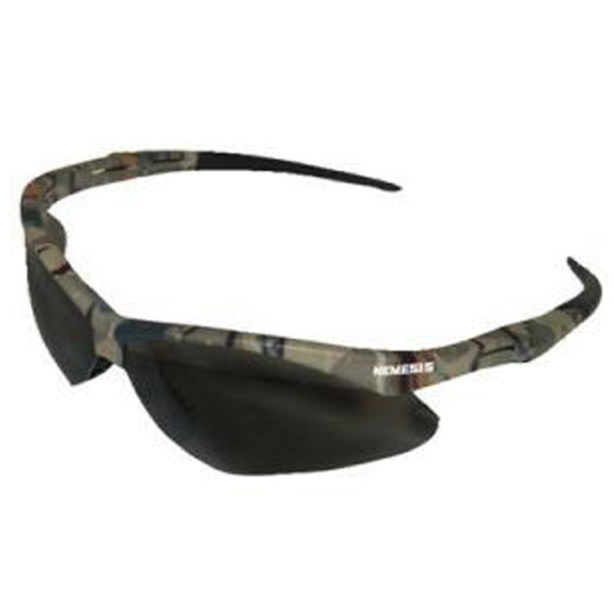 Jackson Nemesis Safety Glasses Camo Frame - Smoke Anti-Fog Lens