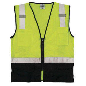ML Kishigo - Black Bottom Class 2 Safety Vest Size Large - X-large