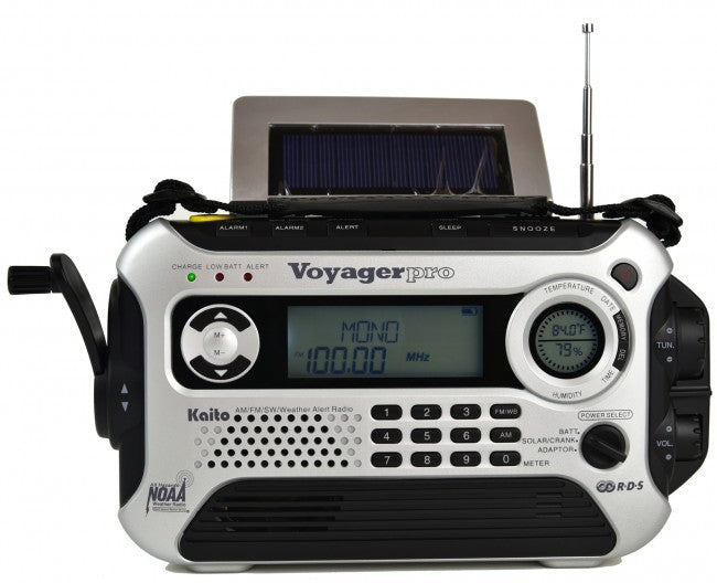 KAITO KA600L 5-WAY POWERED EMERGENCY AM/FM/SW NOAA WEATHER ALERT RADIO WITH SOLAR,DYNAMO CRANK,FLASHLIGHT AND READING LAMP, DIGITAL RADIO WITH LARGER BATTERY AND SOLAR PANEL
