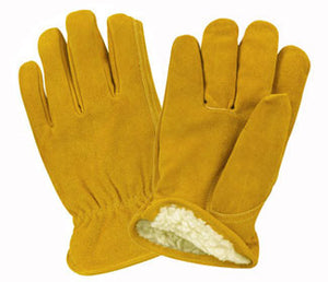 Golden Yellow Pile Lined Winter Gloves-DOZEN