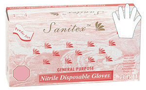 Sanitex - White Nitrile Powder-Free General Purpose Gloves - Box
