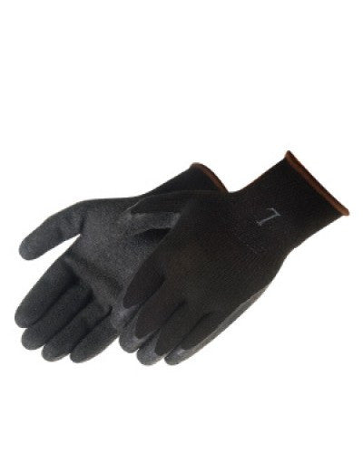 A-Grip Textured Black Latex Coated (Black) Gloves - Dozen