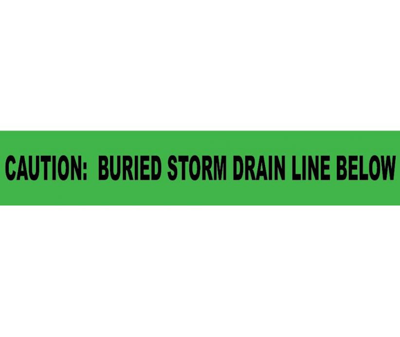 Caution Buried Storm Drain Below Informer Non-Detectable Warning Tape - Roll