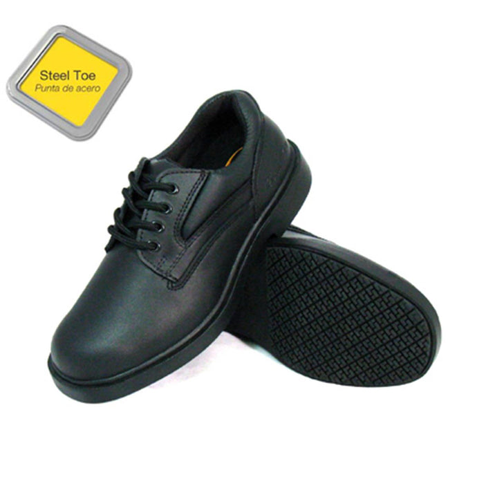 Genuine Grip Footwear- 710 Black Steel Toe Professional Work Women's Shoe