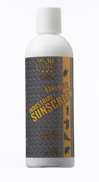 Industrial Strength Sunscreen Micro Refined Clear Zinc Oxide Fragrance Free 8 oz. Bottle