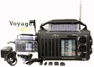 Kaito- Voyager Solo KA450 Solar/Dynamo AM/FM//SW & NOAA Weather Emergency Radio with Alert & Cell Phone Charger, Jeep Style