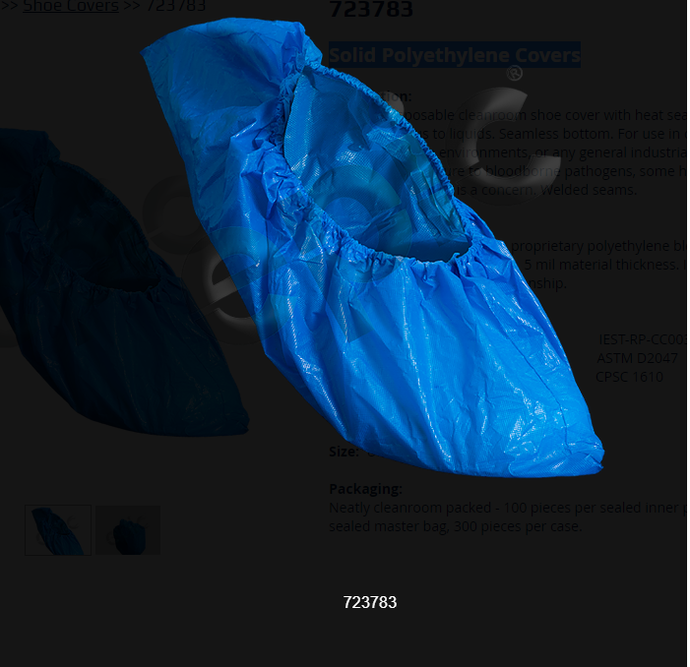 EPIC- Solid Polyethylene Blue Shoe Covers