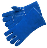 Blue Leather Welder with Reinforced Thumb & Palm - Premium Select Shoulder - Reinforced Thumb - Dozen
