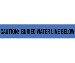 Caution Buried Water Line Below Informer Non-Detectable Warning Tape - Roll