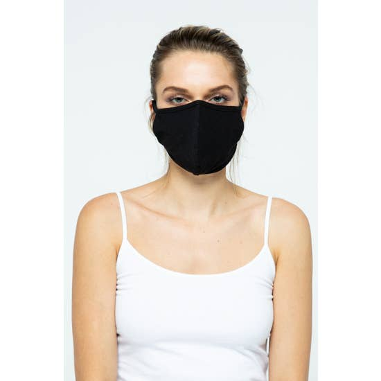 LMC Fabric Face Mask - Black