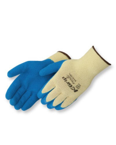 Kevlar premium textured blue Latex palm coated  Gloves