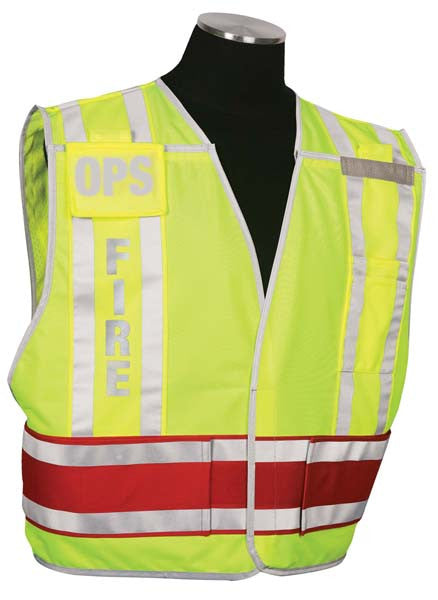 Custom Fire Vest with Interchangable Inserts Size Range 2XL-4XL