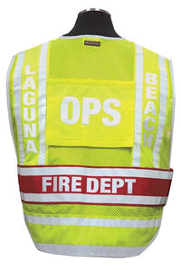 Inserts for Custom Fire & Deluxe Responder Utlity Vests.