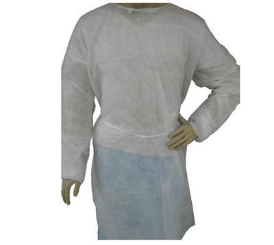 White Isolation Gown - Case