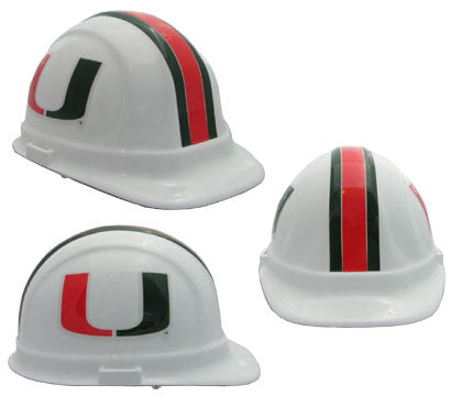 Miami Hurricanes - NCAA Team Logo Hard Hat Helmet
