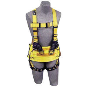 3M DBI-SALA Universal Reflective Cross Over Style Harness With Front And Back Web