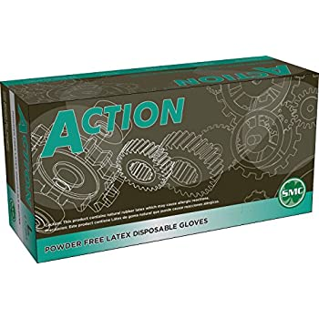 Shamrock Action 8 mil Latex Powder Free Disposable Gloves