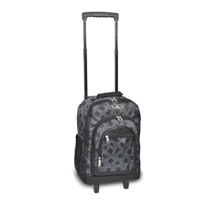Everest-Wheeled Backpack w/ Pattern