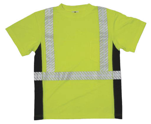 ML Kishigo - BLACK SERIES Class 2 T-shirt Color Lime Size X-large