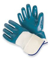 Palm-Coated Nitrile Gloves-Safety Cuff