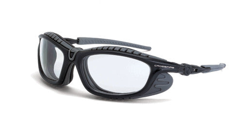 Eclipse Clear Anti-Fog Lens Gun Metal Frame Foam Lined