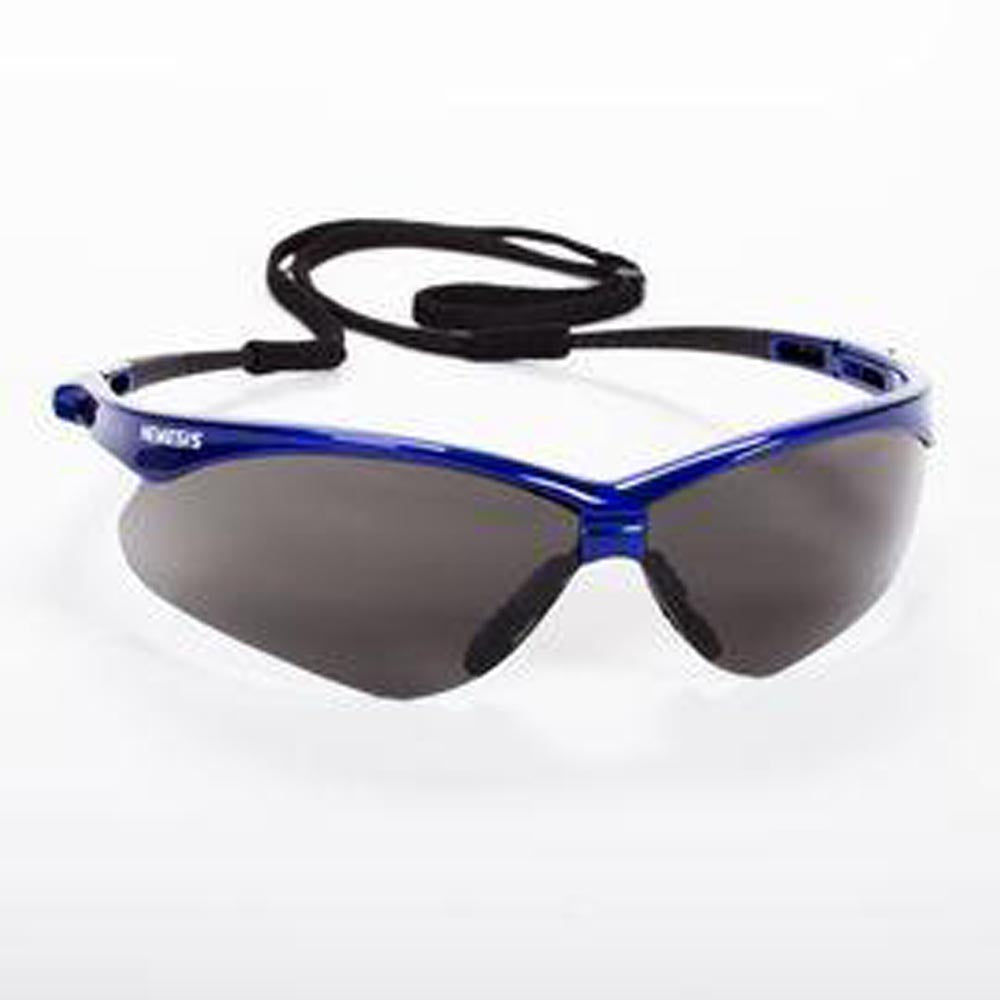 Kimberly-Clark Professional* Jackson Safety* Nemesis* Metallic Blue Safety Glasses With Gray Anti-Fog Lens