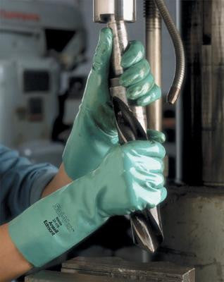 "Ansell - 13"" Unlined Embossed Nitrile Gloves"