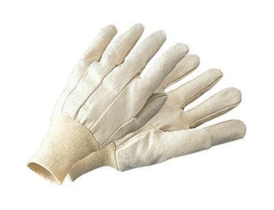 Cotton/Poly Canvas Gloves-Knitwrist