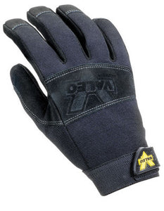 Valeo-Black Pro Leather Mechanics Gloves