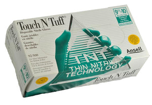 TNT Blue Nitrile, Powdered Free Disposable Gloves - Box