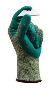 Ansell Size 11 HyFlex Medium Duty Cut And Abrasion Resistant Blue Foam Nitrile Palm Coated Work Gloves With Intercept Technology Yarn DuPont Kevlar Liner And Knit Wrist