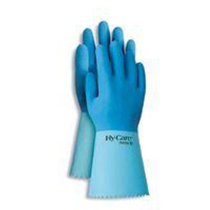 Ansell Hy-Care Fully Coated High Quality Latex Coated Work Gloves With Pinked Cuff
