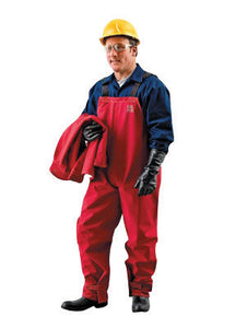 Ansell Large Red Sawyer-Tower CPC Polyester Trilaminate Gore Fabric Chemical Protection Bib Overalls