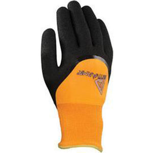 Ansell Size 9 Black And Hi-Viz Orange ActivArmr Nitrile Acrylic And Polyester Lined Cold Weather Gloves With Knit Wrist