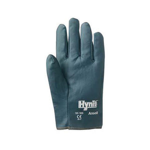 Ansell Size 10 Hynit Medium Duty Multi-Purpose Cut And Abrasion Resistant Blue Nitrile Impregnated Fabric Perforated Back Coated Work Gloves With Interlock Knit Liner And Slip-On Cuff