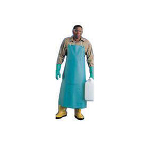 "Ansell 33"" X 44"" White CPP 18 mil Vinyl Heavy Duty Chemical Protection Apron"