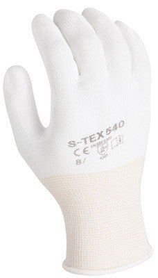 SHOWA Best Glove Size 7 SHOWA 540 13 Gauge Light Weight Cut Resistant White Polyurethane Dipped Palm Coated Work Gloves With White Seamless High Performance Polyethylene