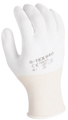 SHOWA Best Glove Size 10 SHOWA 540 13 Gauge Light Weight Cut Resistant White Polyurethane Dipped Palm Coated Work Gloves With White Seamless High Performance Polyethylene