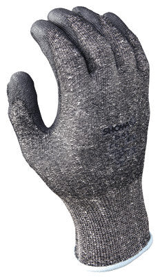 SHOWA Best Glove Size 10 SHOWA 541 13 Gauge Cut Resistant Gray Polyurethane Dipped Palm Coated Work Gloves With Light Gray Seamless Dyneema And High Performance