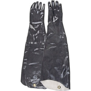 "SHOWA Best Size 10 Large Black Neo Grab 31"" Cotton Lined Neoprene Chemical Resistant Gloves With Smooth Finish And Shoulder Length Cuff"