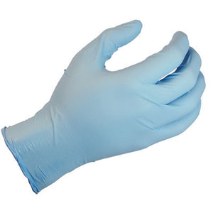 "SHOWA Best Glove Large Blue 9 1/2"" N-DEX Plus 8 mil Latex-Free Nitrile Ambidextrous Non-Sterile Powder-Free Disposable Gloves With Rolled Cuff And Polymer Coating"