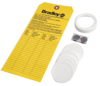 Bradley On-Site Portable Eye Wash Refill Kit With Replacement Cap, Foam Liners And Inspection Tag For On-Site Emergency Eye Wash Station For S19-921 Gravity-Fed Eye Wash Station