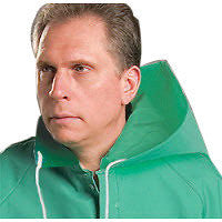 Onguard Industries One Size Fits All Green Chemtex 3.5 mil PVC on Nylon Polyester Chemical Protection Hood With Cord Locks