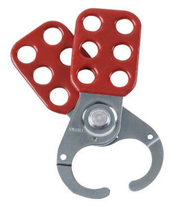 "Brady Red Vinyl Coated High Tensile Steel Lockout Hasp With 1"" Jaw"